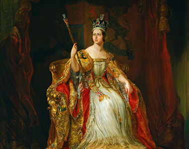 A painting of Queen Victoria in her Imperial crown